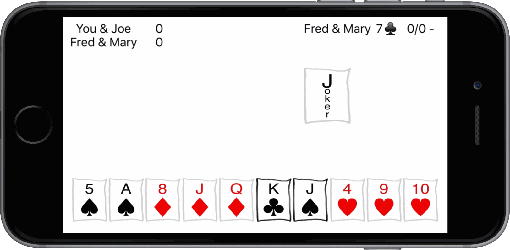 500 card game screenshot